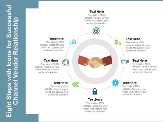 Eight Steps With Icons For Successful Channel Vendor Relationship Ppt PowerPoint Presentation Portfolio Visuals