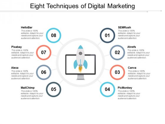 Eight Techniques Of Digital Marketing Ppt PowerPoint Presentation Ideas Clipart