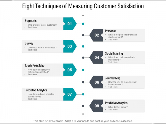 Eight Techniques Of Measuring Customer Satisfaction Ppt PowerPoint Presentation Portfolio Pictures