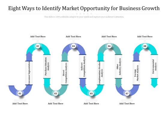 Eight Ways To Identify Market Opportunity For Business Growth Ppt PowerPoint Presentation Professional Good PDF