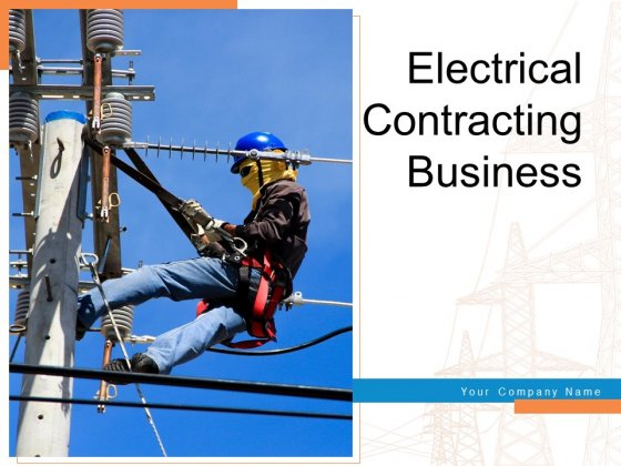 Electrical Contracting Business Bulb Icon Cost Setting Ppt PowerPoint Presentation Complete Deck