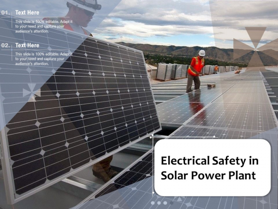 Electrical Safety In Solar Power Plant Ppt PowerPoint Presentation Gallery Files PDF