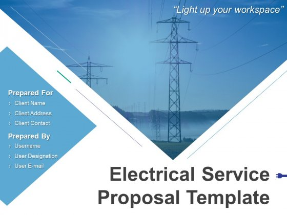 Electrical Service Proposal Template Ppt PowerPoint Presentation Complete Deck With Slides