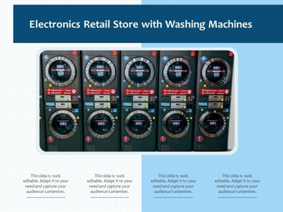Electronics Retail Store With Washing Machines Ppt PowerPoint Presentation File Master Slide PDF