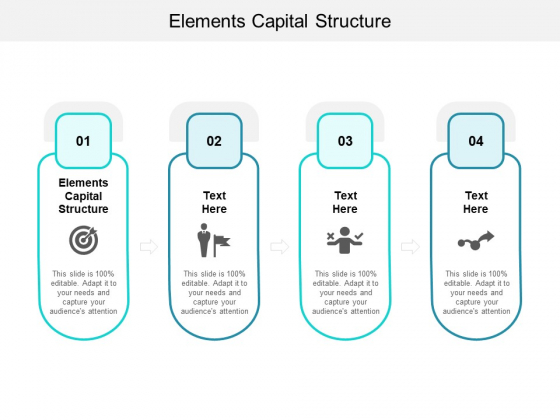 Elements Capital Structure Ppt PowerPoint Presentation Infographic Template Design Inspiration Cpb