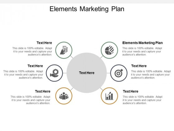 Elements Marketing Plan Ppt PowerPoint Presentation Slides Clipart Images Cpb