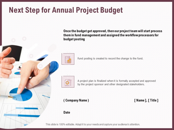 Elements Next Step For Annual Project Budget Ppt Outline Files PDF