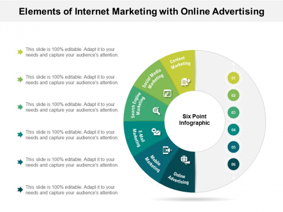 Elements Of Internet Marketing With Online Advertising Ppt PowerPoint Presentation Ideas Tips PDF