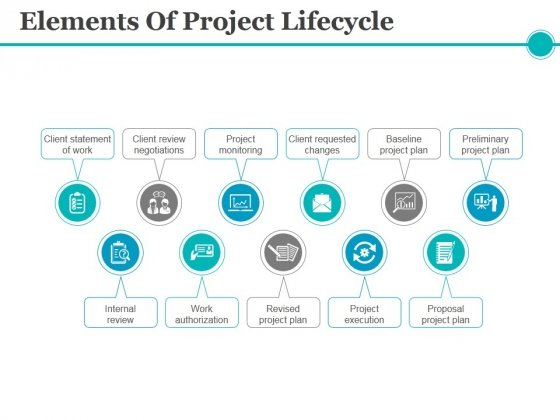 Elements Of Project Lifecycle Ppt PowerPoint Presentation Slides Brochure