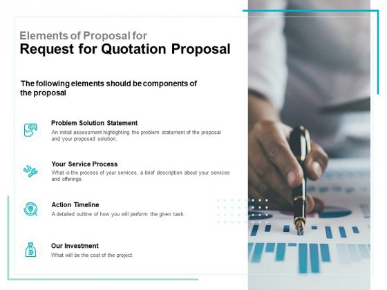Elements Of Proposal For Request For Quotation Proposal Ppt PowerPoint Presentation Styles Smartart