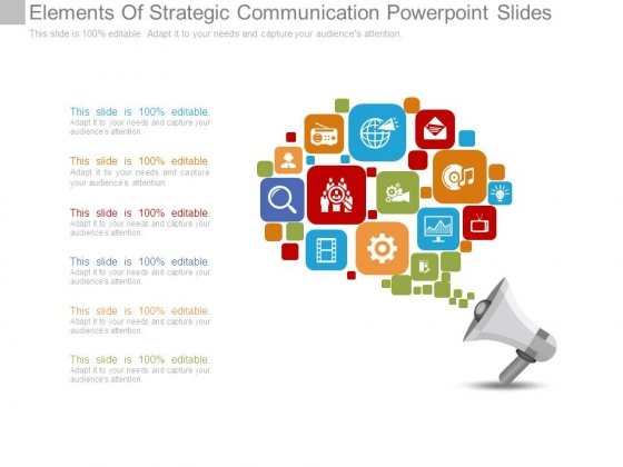 Elements Of Strategic Communication Powerpoint Slides