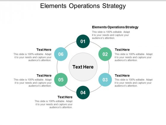 Elements Operations Strategy Ppt PowerPoint Presentation Show Clipart Images Cpb