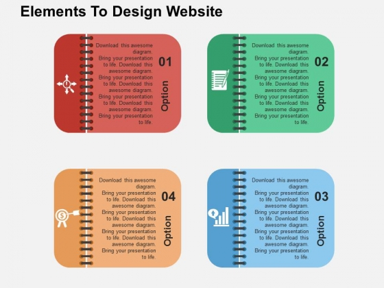 Elements To Design Website Powerpoint Templates