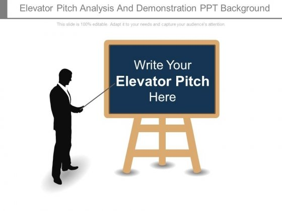Elevator Pitch Analysis And Demonstration Ppt Background