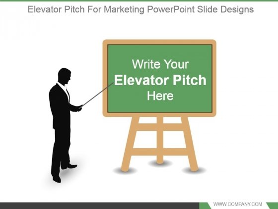 Elevator Pitch For Marketing Powerpoint Slide Designs