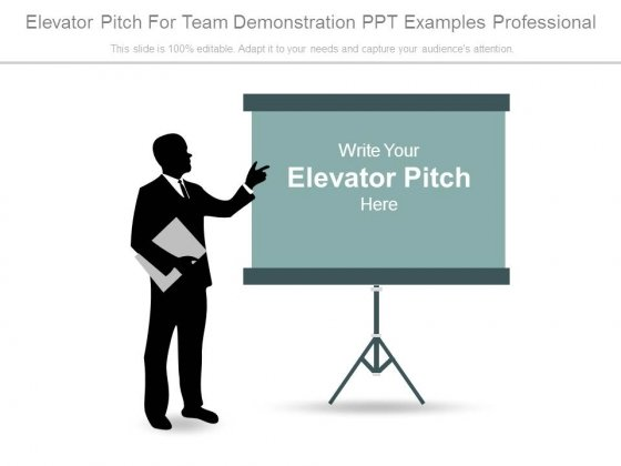 Elevator Pitch For Team Demonstration Ppt Examples Professional