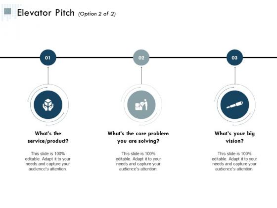 Elevator Pitch Management Ppt Powerpoint Presentation Portfolio Structure