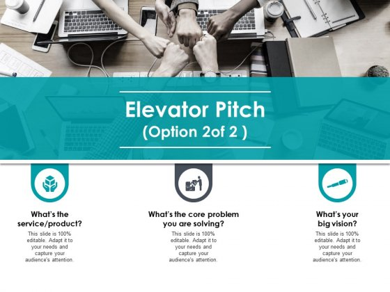 Elevator Pitch Marketing Ppt PowerPoint Presentation Model Template