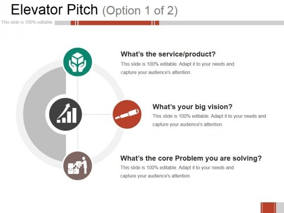 Elevator Pitch Ppt PowerPoint Presentation Infographics Infographic Template
