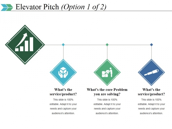 Elevator Pitch Template 1 Ppt PowerPoint Presentation Outline Background
