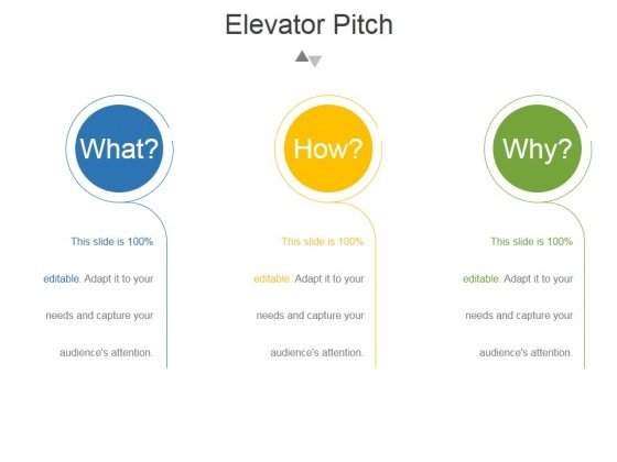 Elevator Pitch Template 2 Ppt PowerPoint Presentation Examples