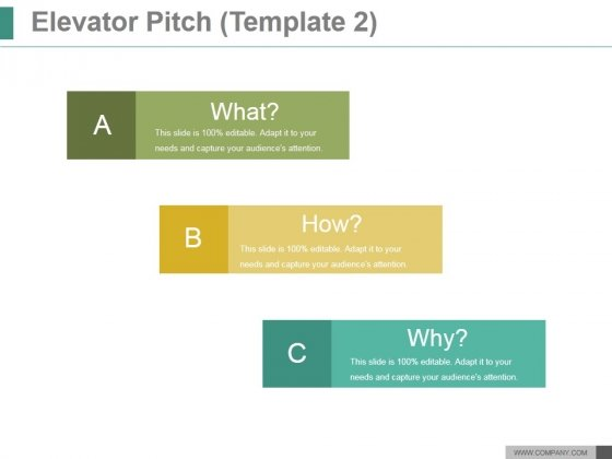 Elevator Pitch Template  Ppt Powerpoint Presentation Ideas