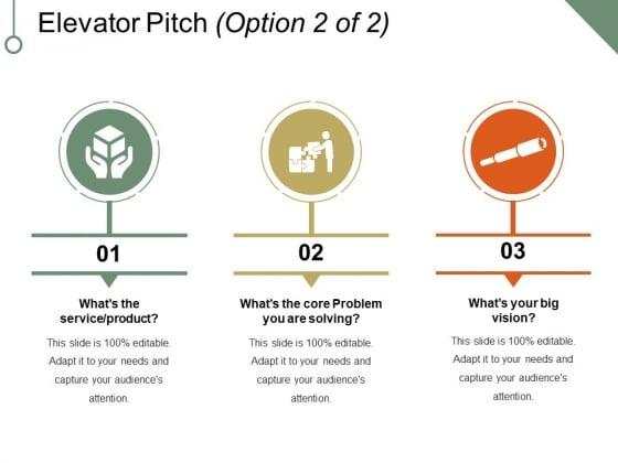 Elevator Pitch Template 2 Ppt Point Presentation Portfolio Slides Slide 1