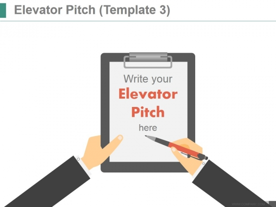 Elevator Pitch Template 3 Ppt PowerPoint Presentation Diagrams