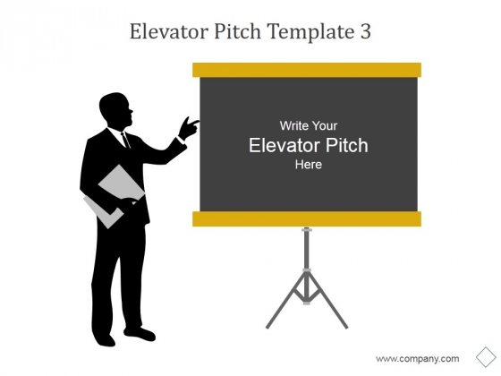 Elevator Pitch Template 3 Ppt PowerPoint Presentation Infographics