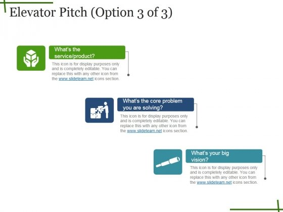Elevator Pitch Template Ppt PowerPoint Presentation Inspiration Topics