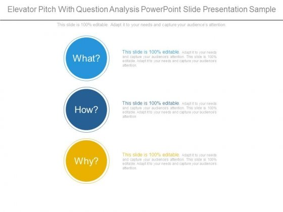 Elevator Pitch With Question Analysis Powerpoint Slide Presentation Sample