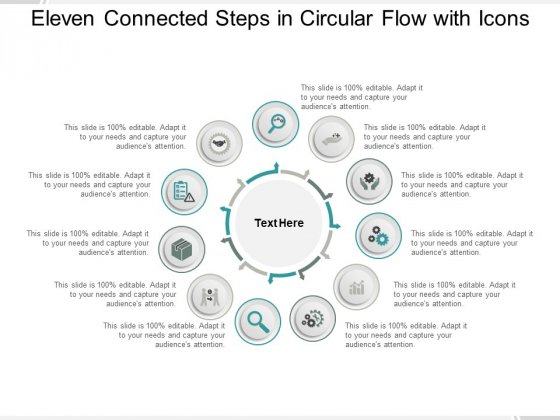 Eleven Connected Steps In Circular Flow With Icons Ppt PowerPoint Presentation Gallery Skills