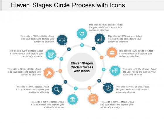 Eleven Stages Circle Process With Icons Ppt PowerPoint Presentation Summary Graphics