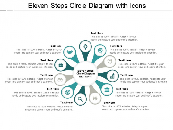 Eleven Steps Circle Diagram With Icons Ppt PowerPoint Presentation Layouts Background