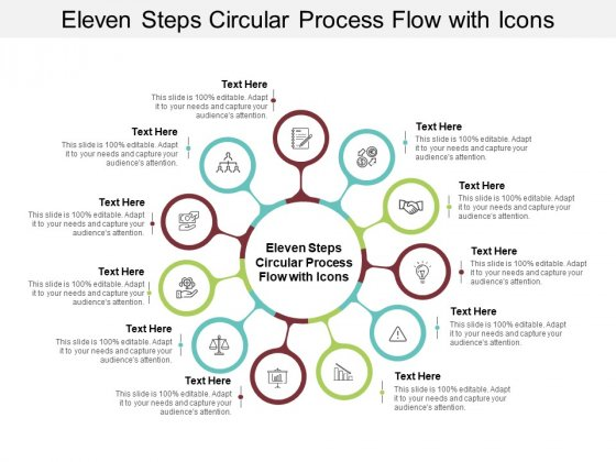 Eleven Steps Circular Process Flow With Icons Ppt PowerPoint Presentation Styles Gridlines