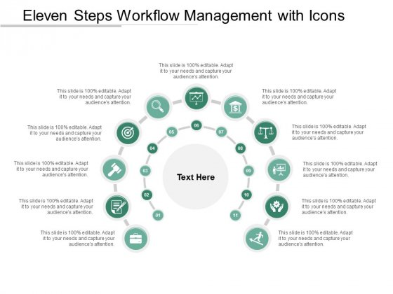 Eleven Steps Workflow Management With Icons Ppt PowerPoint Presentation Infographics Slides