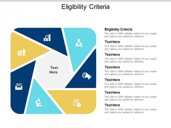 Eligibility Criteria Ppt PowerPoint Presentation Ideas Rules Cpb