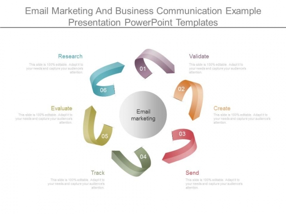 Email Marketing And Business Communication Example Presentation Powerpoint Templates