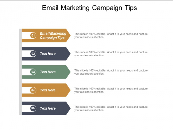 Email Marketing Campaign Tips Ppt PowerPoint Presentation Styles File Formats Cpb