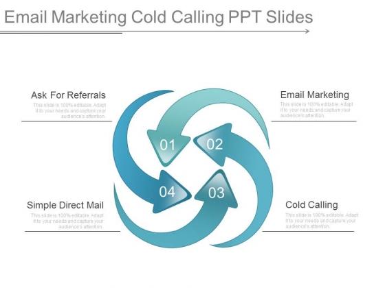 Email Marketing Cold Calling Ppt Slides