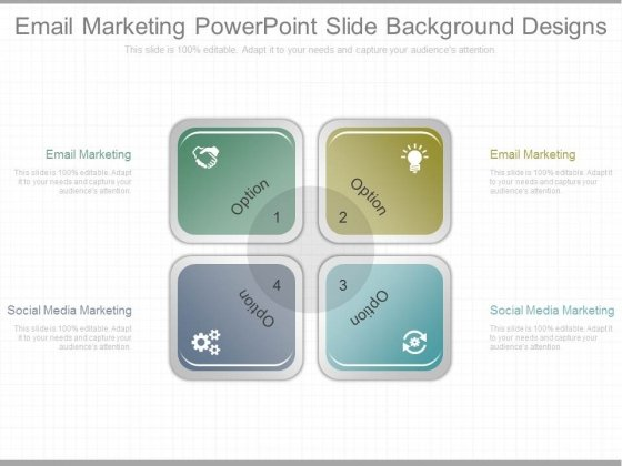 Email Marketing Powerpoint Slide Background Designs