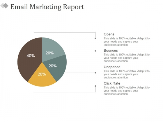 Email Marketing Report Ppt PowerPoint Presentation Ideas