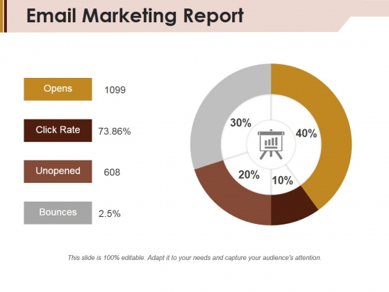 Email Marketing Report Ppt Powerpoint Presentation Infographic Template Icons