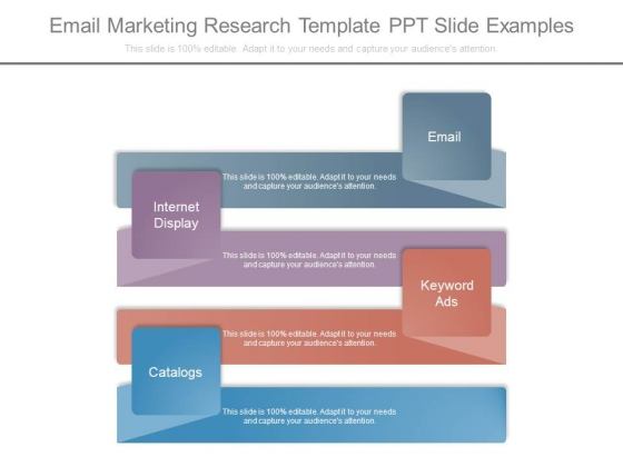 Email Marketing Research Template Ppt Slide Examples