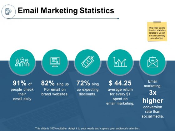 Email Marketing Statistics Ppt PowerPoint Presentation Infographic Template Tips