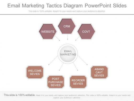 Email Marketing Tactics Diagram Powerpoint Slides