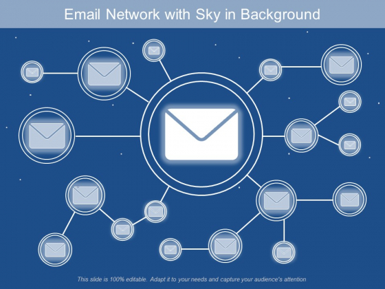 Email Network With Sky In Background Ppt PowerPoint Presentation Gallery File Formats