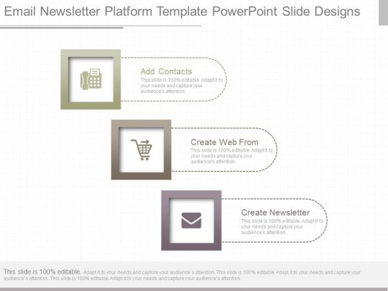 email newsletter platform template powerpoint slide designs, Modern powerpoint