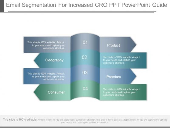 Email Segmentation For Increased Cro Ppt Powerpoint Guide