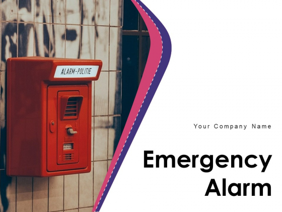 Emergency Alarm Fire Alarm Shopping Centre Button Icon Ppt PowerPoint Presentation Complete Deck